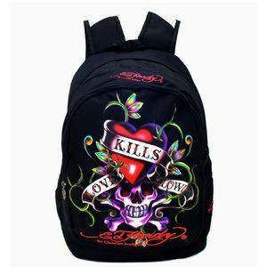 Ed Hardy Love Kills Slowly backpack